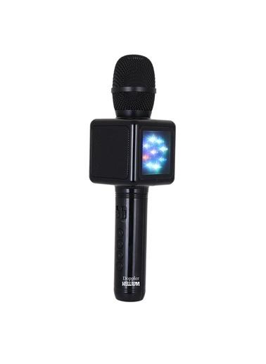 Doppler Karaoke Mikrofon - Işıklı - Ses Değiştirme Siyah